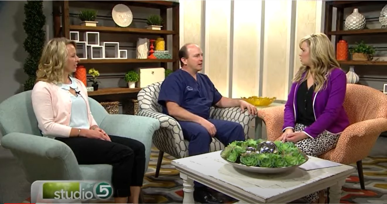 Dr. Black and Callie on Studio 5 television show