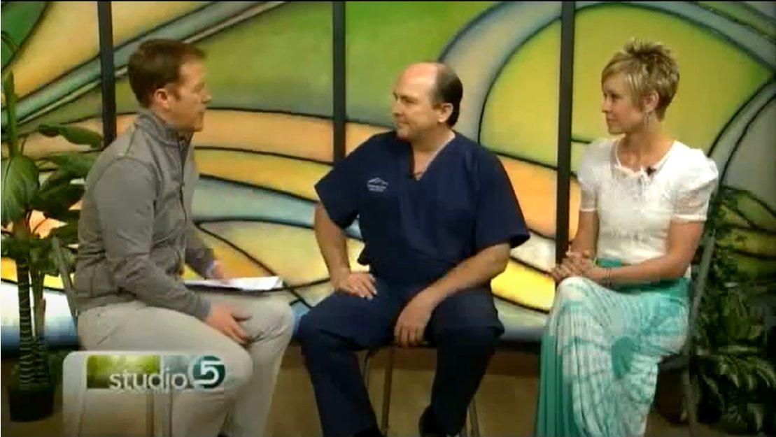 Jessica and Dr. Black on Studio5 televsion show